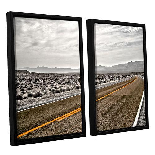 ArtWall ''Slow Curves'' Framed Wall Art 2-piece Set