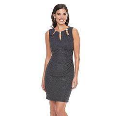 Women's Jessica Howard Glitter Cutout Sheath Dress
