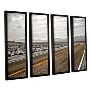 ArtWall ''Slow Curves'' Framed Wall Art 4-piece Set