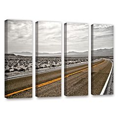 ArtWall ''Slow Curves'' Vertical Canvas Wall Art 4-piece Set