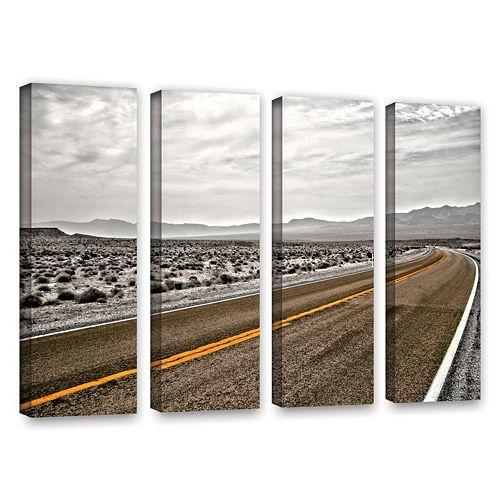 ArtWall ''Slow Curves'' Vertical Canvas Wall Art 4-piece Set