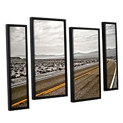 ArtWall ''Slow Curves'' Staggered Framed Wall Art 4-piece Set