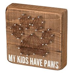 'My Kids Have Paws' String Box Sign Art