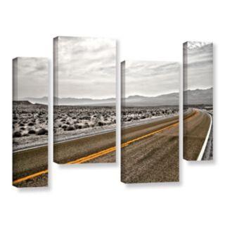 ArtWall ''Slow Curves'' Canvas Wall Art 4-piece Set