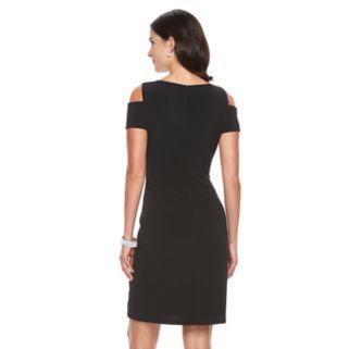 Women's Jessica Howard Cold-Shoulder Sheath Dress