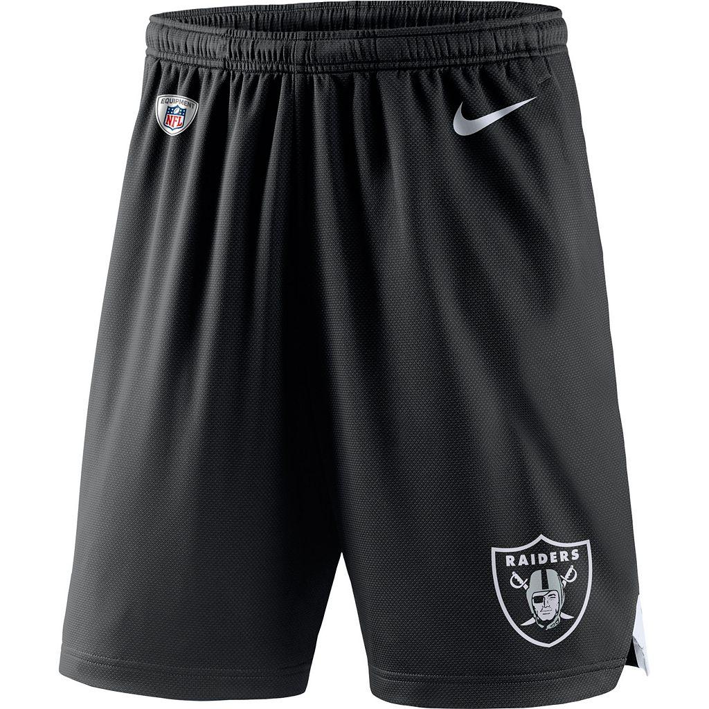 Men's Nike Oakland Raiders Knit Dri-FIT Shorts