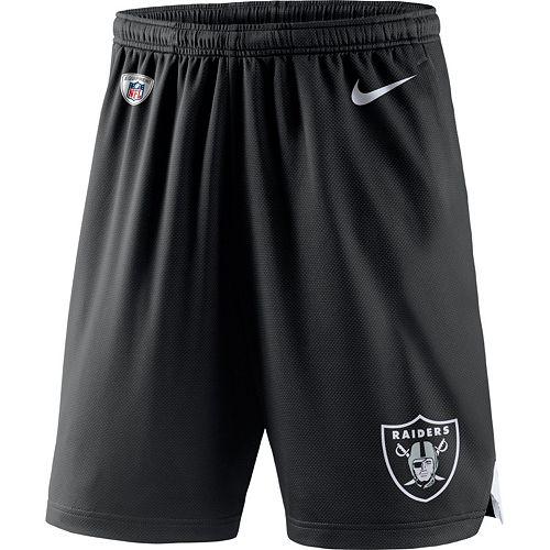 d6344b3c Men's Nike Oakland Raiders Knit Dri-FIT Shorts