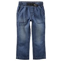 Toddler Boy Carter's Buckled Denim Pants