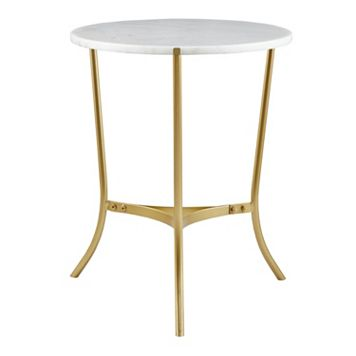 Madison Park Signature 22-in. Marble Finish End Table