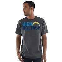 Men's Majestic Los Angeles Chargers Safety Blitz Tee