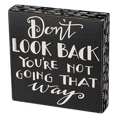 'Don't Look Back' Box Sign Art