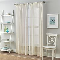 Window Curtainworks Solid Cape Sheer Window Curtain Set
