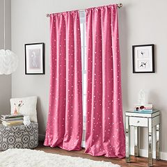 Window Curtainworks 1-Panel Starry Night Room Darkening Window Curtain