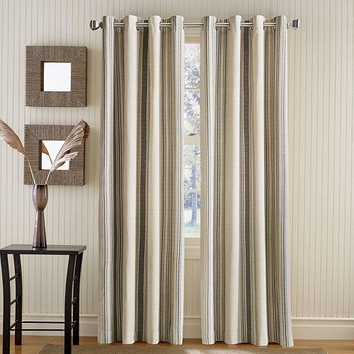 Window Curtainworks 1-Panel Vertical Veranda Striped Room Darkening Window Curtain
