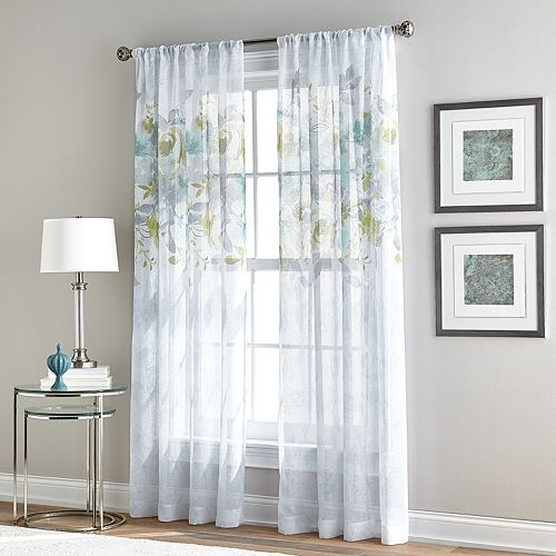 Window Curtainworks Waterfloral Bloom Sheer Window Curtain
