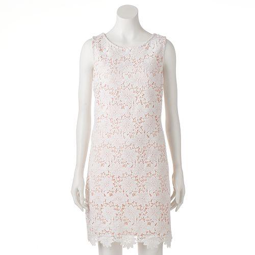 Women's Jessica Howard Scalloped Lace Shift Dress