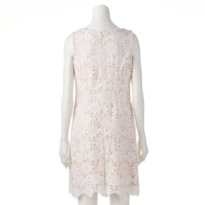 Women's Jessica Howard Scalloped Lace Shift Dress