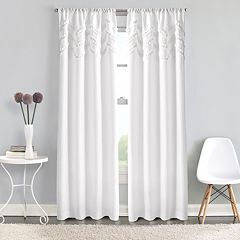 Window Curtainworks 1-Panel Zig Zag Ruffle Pole Top Window Curtain