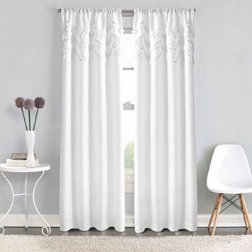 Window Curtainworks Zig Zag Ruffle Pole Top Window Curtain