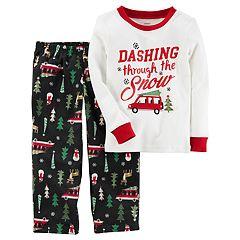 Baby Boy Carter's 'Dashing Through the Snow' Top & Microfleece Bottoms Pajama Set