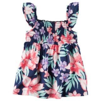 Toddler Girl Carter's Floral Smocked Tank Top