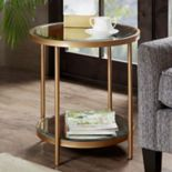 Madison Park Brandy Mirrored End Table