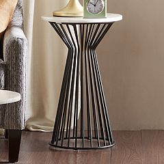 Madison Park Keaton Marble Finish End Table