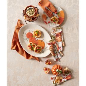 Celebrate Fall Together Oval Pumpkin Platter