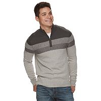 Men's Urban Pipeline® Striped Quarter-Zip Sweater