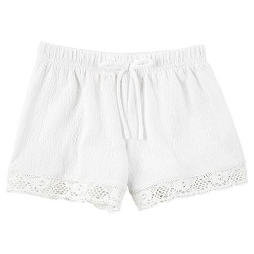 Girls 4-8 Carter's Crochet-Trim Gauze Shorts