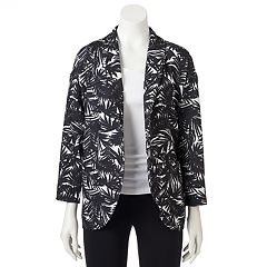 Women's WDNY Black Palm Tree Blazer
