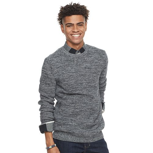 Urban Pipeline Mens Space-Dyed Crew Sweater