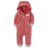 Baby Boy Carter's Hooded French Terry Striped Jumpsuit