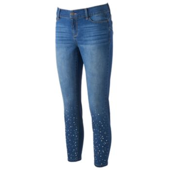 Women's Juicy Couture Embellished Midrise Skinny Jeans