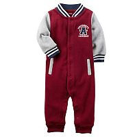 Baby Boy Carter's Fleece Colorblock Varsity Jumpsuit