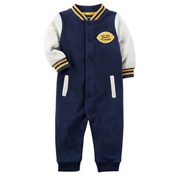 Baby Boy Carter's Fleece Varsity Jumpsuit