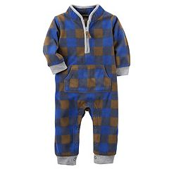 Baby Boy Carter's Microfleece Plaid 1/2-Zip Coverall