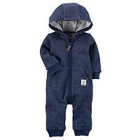 Baby Boy Carter's Raccoon Hooded Brushed Fleece Jumpsuit