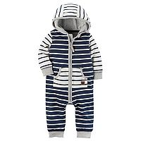 Baby Boy Carter's Striped Hooded Coverall
