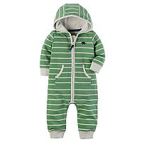Baby Boy Carter's Striped Hooded Jumpsuit