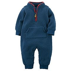 Baby Boy Carter's Navy Sherpa Coverall