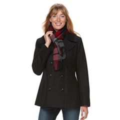 Women's TOWER by London Fog Wool Blend Peacoat