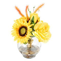 Designs by Lauren Artificial Yellow Mixed Floral Arrangement