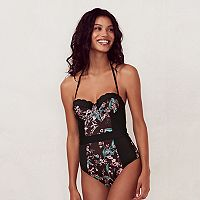 Women's LC Lauren Conrad Beach Shop Scalloped One-Piece Swimsuit
