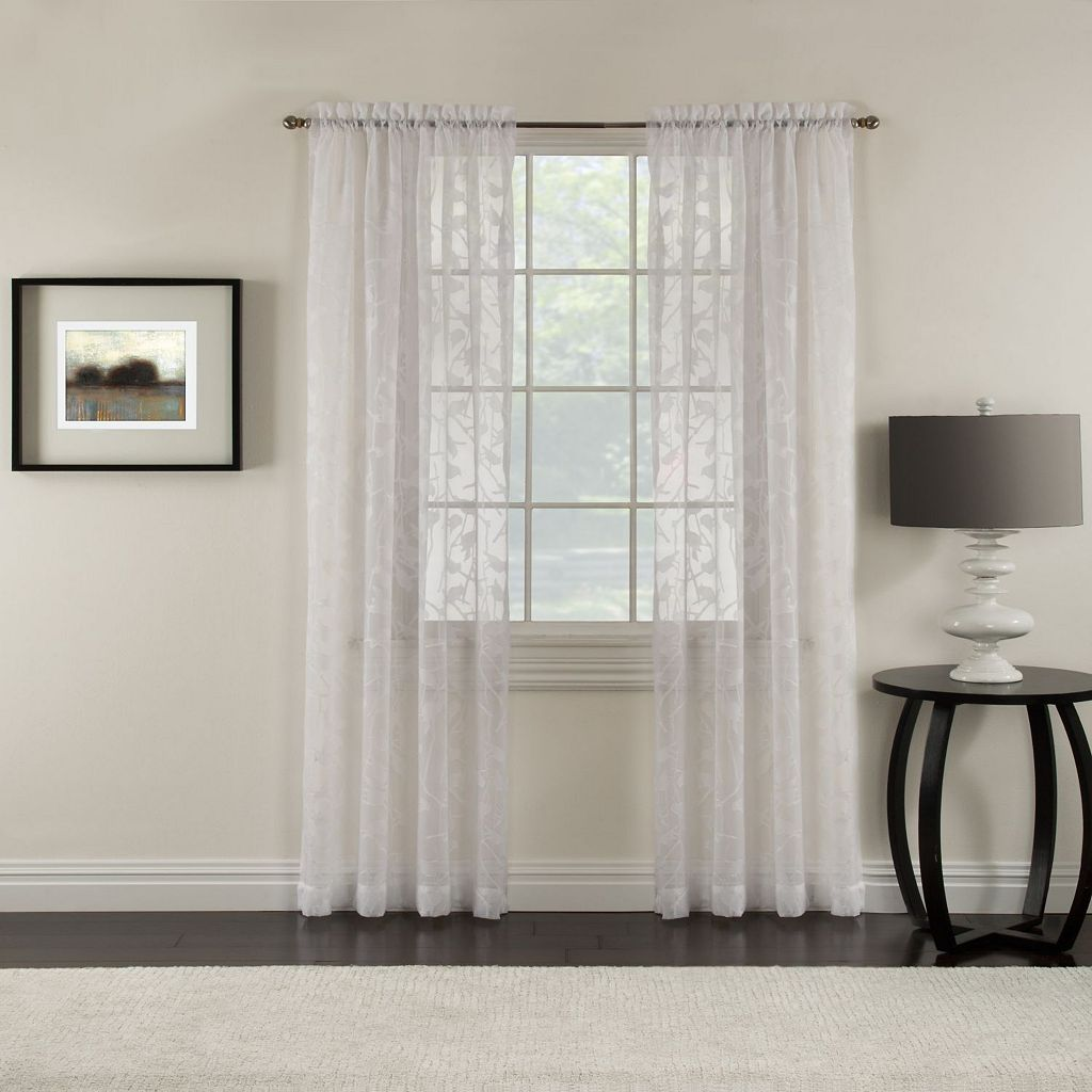 Miller Curtains Chickadee Sheer Curtain
