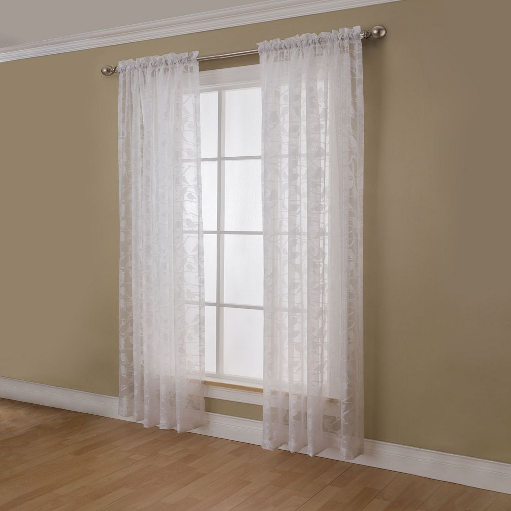 Miller Curtains Chickadee Sheer Window Curtain