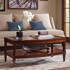 Madison Park Glass Top Coffee Table