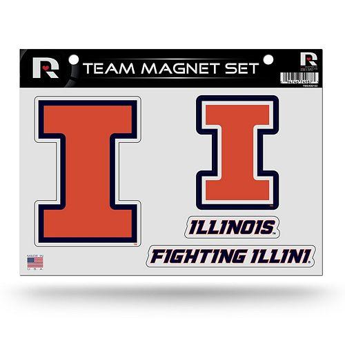 Illinois Fighting Illini Team Magnet Set