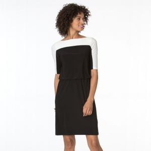 Women's Chaps Colorblock Blouson Dress