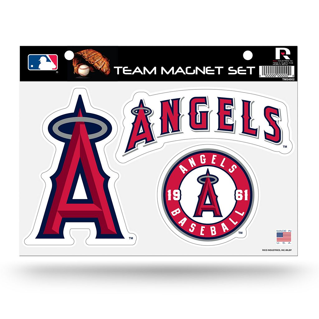 Los Angeles Angels of Anaheim Team Magnet Set